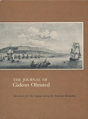 Cover of: The journal of Gideon Olmsted | Gideon Olmsted