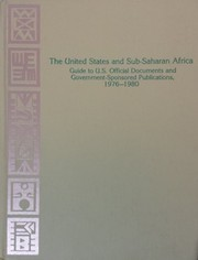 Cover of: The United States and sub-Saharan Africa