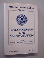 Cover of: The Origins of life and evolution |