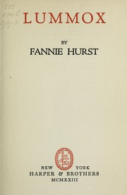Cover of: Lummox | Fannie Hurst
