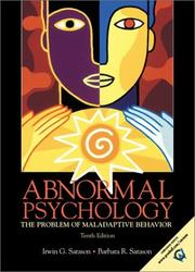 Abnormal psychology by Irwin G. Sarason