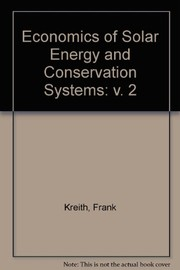 Cover of: Economics of solar energy and conservation systems |