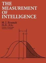 Cover of: The measurement of intelligence. | Hans Jurgen Eysenck