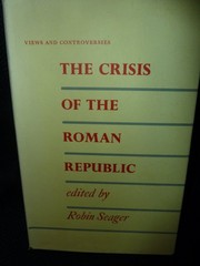 Cover of: The crisis of the Roman republic | Robin Seager