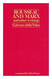 Cover of: Rousseau and Marx