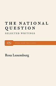 Cover of: The national question: selected writings