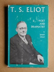 Cover of: T. S. Eliot - poet and dramatist
