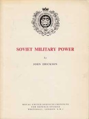 Cover of: Soviet military power. | John Erickson