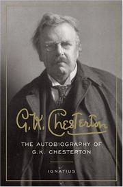 Cover of: The autobiography of G. K. Chesterton