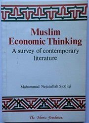 Cover of: Muslim economic thinking | Muhammad Nejatullah Siddiqi