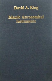 Cover of: Islamic astronomical instruments