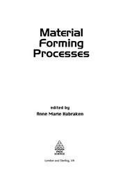 Cover of: Material forming processes |