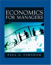 Cover of: Economics for Managers | Paul G Farnham