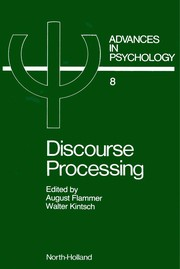 Cover of: Discourse Processing |