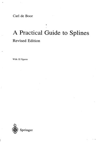 A practical guide to splines: with 32 figures