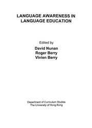 Cover of: Language awareness in language education |