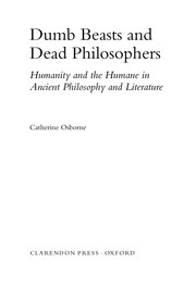 Cover of: Dumb beasts and dead philosophers