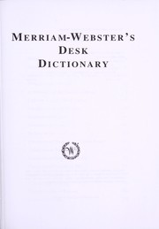 Cover of: Merriam-Webster