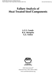 Cover of: Failure analysis of heat treated steel components