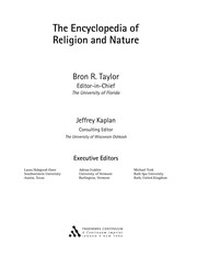 Cover of: The encyclopedia of religion and nature |