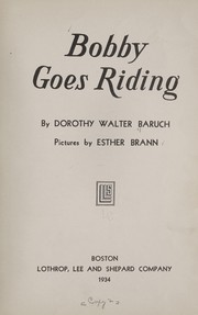 Cover of: Bobby goes riding