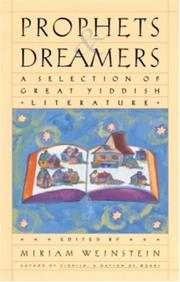 Cover of: Prophets and Dreamers | Miriam Weinstein