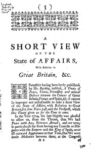 Cover of: A Short View of the State of Affairs, with Relation to Great Britain, for Four Years Past: With ...
