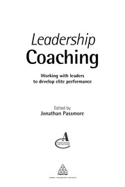 Cover of: Leadership coaching |