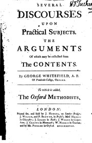 Cover of: Several Discourses Upon Practical Subjects: The Arguments of which May be ...