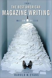 Cover of: The Best American Magazine Writing 2001 (Best American Magazine Writing) | Harold M. Evans