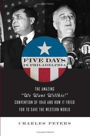 Cover of: Five days in Philadelphia