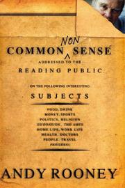 Cover of: Common nonsense / Andy Rooney