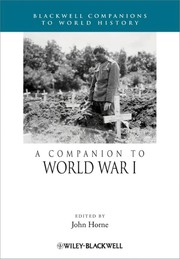 Cover of: A companion to the First World War |