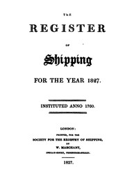 Lloyd's Register of Shipping by No name