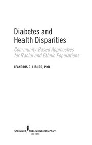 Cover of: Diabetes and health disparities |