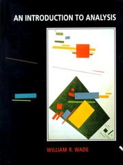 Cover of: Introduction to Analysis, An | William R. Wade