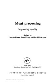 Cover of: Meat processing