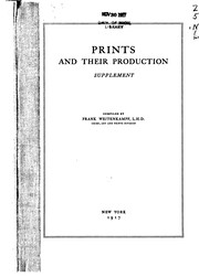 Cover of: Prints and Their Production: A List of Works in the New York Public Library