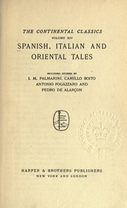 Cover of: Spanish, Italian and oriental tales |