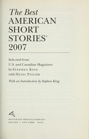 Cover of: The best American short stories 2007 |