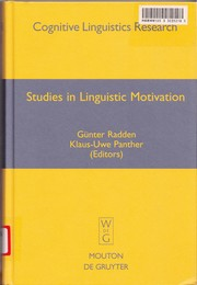 Cover of: Studies in linguistic motivation |