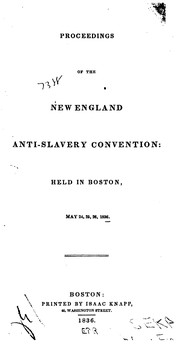 Cover of: Annual Report of the Board of Managers of the Massachusetts Anti-Slavery Society, with Some ...