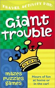 Cover of: Giant Trouble Travel Activity Pad | Mark Ammerman