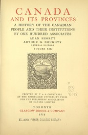 Cover of: Canada and its provinces |