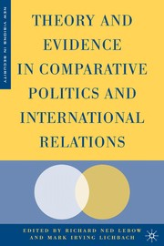 Cover of: Theory and evidence in comparative politics and international relations |