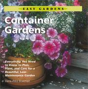 Cover of: Container Gardens (Easy Gardens)