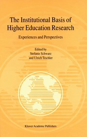 Cover of: The institutional basis of higher education research |