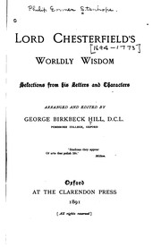 Cover of: Lord Chesterfield's Worldly Wisdom: Selections from His Letters and Characters