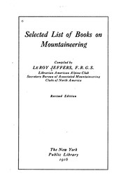 Cover of: Selected List of Books on Mountaineering
