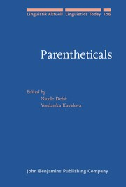 Cover of: Parentheticals |